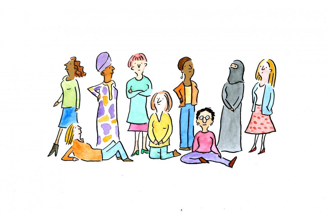 International Woman Day In A Wallpaper Funny Art Design