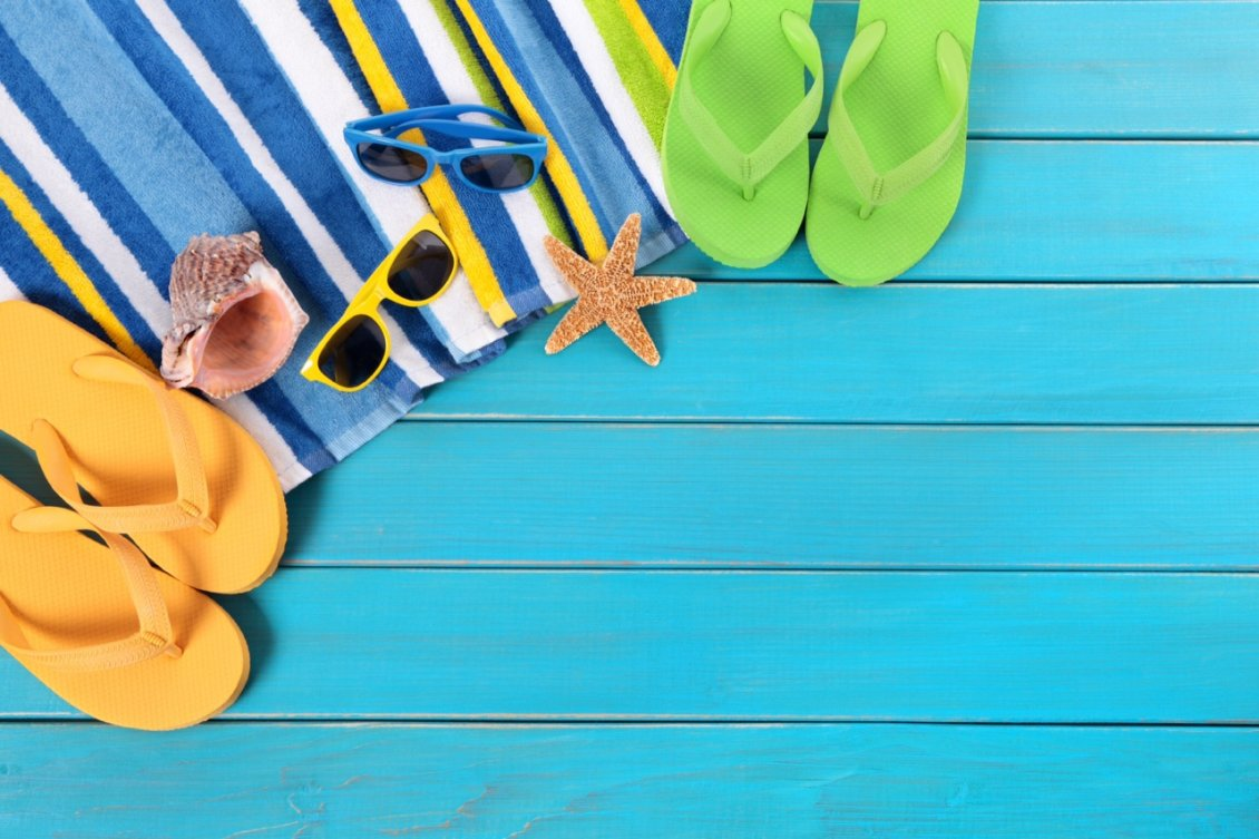 Download Wallpaper Staffs for a beautiful summer holiday - flip flop shoes