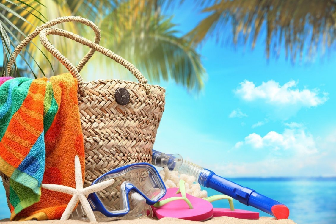 Download Wallpaper Summer staffs for a perfect holiday at the beach - Macro