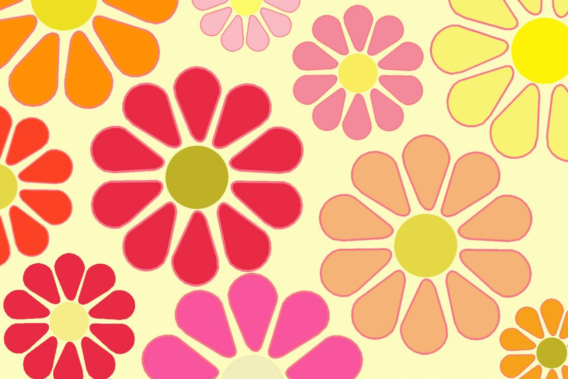 Download Wallpaper Colorful flowers in the background - HD wallpaper
