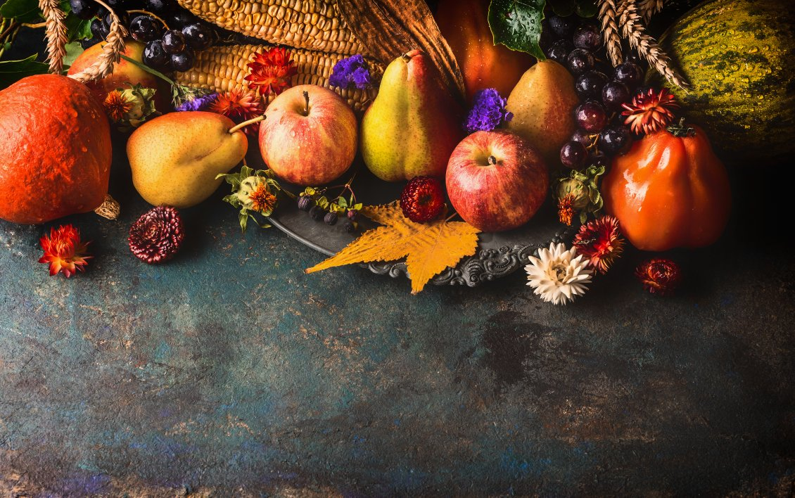 Download Wallpaper Wonderful Autumn wallpaper with delicious fruits