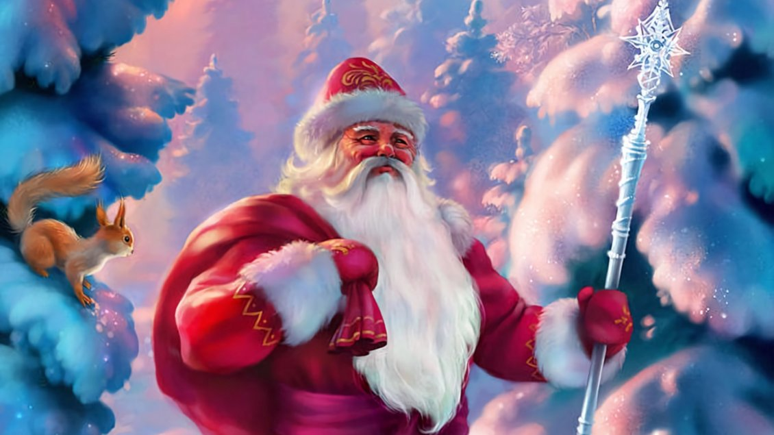 Download Wallpaper Santa Claus in Laponia - Christmas Winter holiday