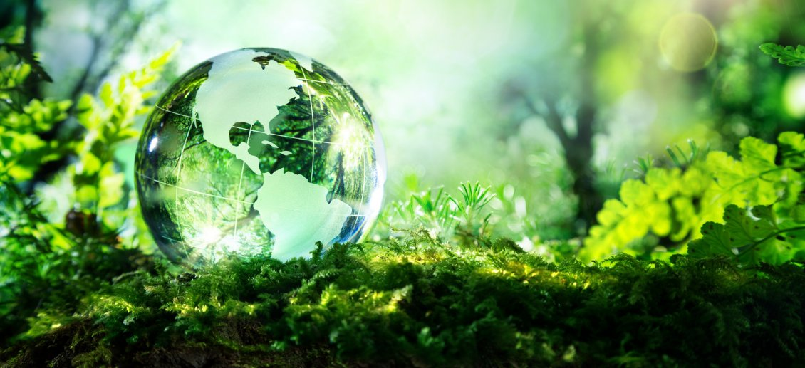 Download Wallpaper Earth from crystal globe - Nature is very fragile
