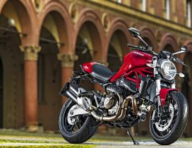 Ducati Monster 821 - red and black motorcycle