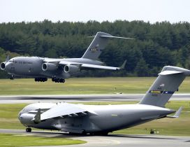 C 17 Globemaster III at McGuire Air Force Base ready to fly