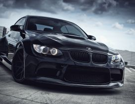 Black BMW E93 series 3 bodykit