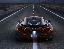 McLaren P1 flame on exhaust HD