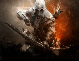 Assassin's Creed 3 with bow and arrow