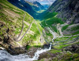 Awesome and spectacular road : Trollstigen, Norway