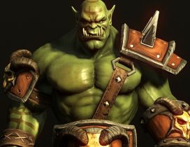 Fantasy Orc character from World of Warcraft game