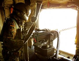 Door Gunner of a Bundeswehr CH-53