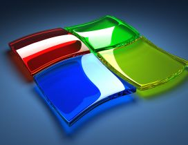Windows 7 logo - 3D  Wallpaper