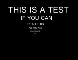 Test for reading - Funny HD wallpaper