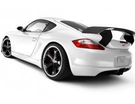 White Porsche Cayman GT