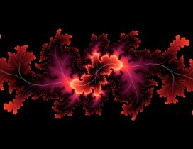 Abstract red leaves, HD wallpaper