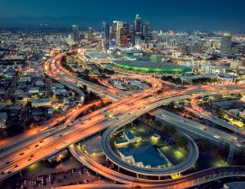 Beautiful Los Angeles at night