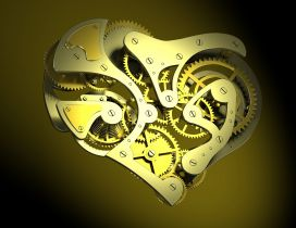 Heart made from metal parts
