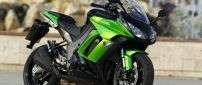 Black and green Kawasaki Z1000SX Motorcycle