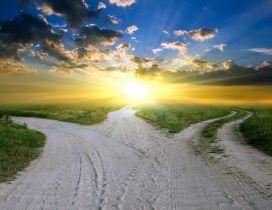 One road , three ways