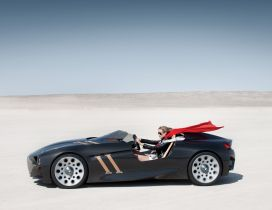 Crossing the desert in a BMW 328 Hommage