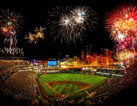 Fireworks on the stadium, victory - PNC Park