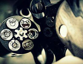 Glock gun with ammo