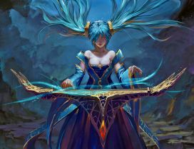 Sona from League of Legend HD