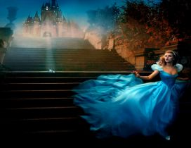Scarlett Johansson in the Cinderella movie