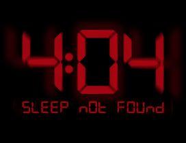 Error - Sleep not found