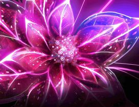 Abstract and artistic pink flower