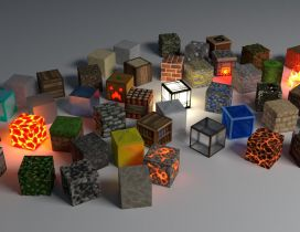 Many different cubes - HD wallpaper