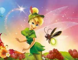 Tinkerbell and a bee - Disney Princess