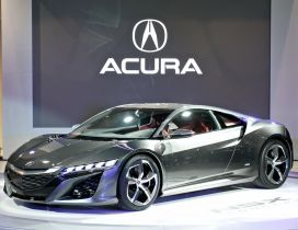 Acura NSX - Splendid gray acura car