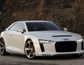 White Audi A4 Allroad Quattro
