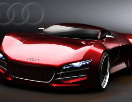 Sport Audi R10 - Red car wallpaper