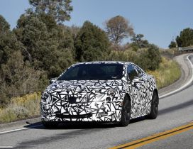 White Cadillac ELR with black lines