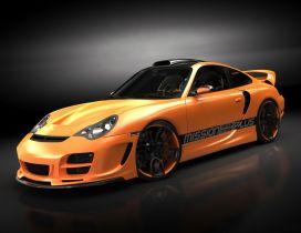 Orange Porsche 911 - Sport car wallpaper