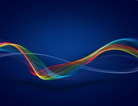 Colorful curvilinear - Vector and design wallpaper