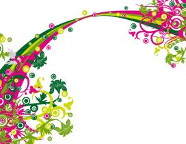 Pink and green vector and design wallpaper