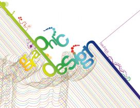 Many colorful lines in a graphic design wallpaper