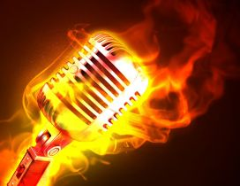 A microphone in flames - Power of music