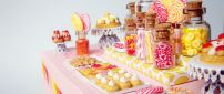 Colorful cookies on the table - Candy dessert table