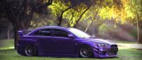 Purple Mitsubishi Lancer tuning
