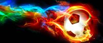 Ball in flames - Abstract wallpaper