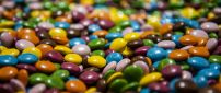 Colorful m&m's chocolate candy