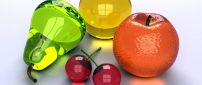 Colored fruits from glass - abstract wallpaper