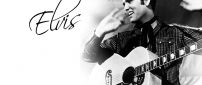 Elvis Presley with his guitar - an American singer