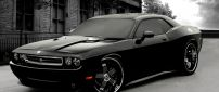 Dodge Challenger - Black Car Wallpaper