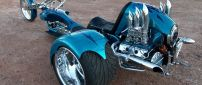 Bike Chopper Custom - Interesting blue motorcycle