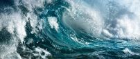Big waves on the sea - HD wallpaper